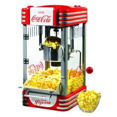 Nostalgia Electrics Coca Cola Series RKP630COKE Kettle Popcorn Maker