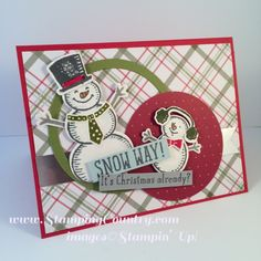 Christmas Card, Card Making, Snow Place #stampinup