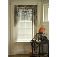 Heritage Lace Halloween Damask Curtains - Have these in my kitchen and love them!