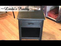 Black Furniture Painting Tutorial - YouTube