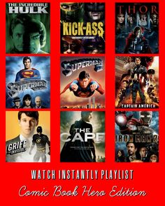 9 Super Hero Movies available for instant watching on Netflix
