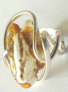 Baltic Amber Ring, yellow amber ring, adjustable ring, yellow color ring, gift ring,  anillo �mbar, ????,  ??????, ???????? ??????