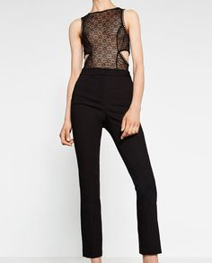 HIGH WAIST SKINNY TROUSERS-Skinny-TROUSERS-WOMAN-COLLECTION AW16 | ZARA United States