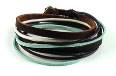 Soft Leather Multicolour Ropes Women Leather by braceletcool, $8.50