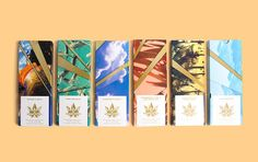 Leafs by Snoop Dog Brand Identity  With rapper Snoop Dogg Pentagram imagined the identity of the cannabis line products Leafs by Snoop respecting a style California Cool. These colorful boxes gathers Dogg Treats : chewing-gums 6 chocolate bars with different flavors gummies and a notice (on which we can read Grind it Roll it Light it) for the Colorados consumers an American state where cannabis is legalized. The logo represents a leaf of marijuana approached in a graphic way with a facettes…