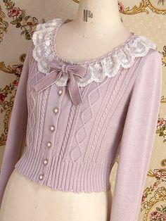 Mary Magdalene / Cutsew & Knit / Lace Macaron Cardigan