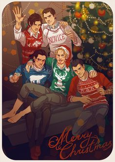 This picture makes me so happy, you don't even know!!! I love their ugly Christmas sweaters!!!! Lol !