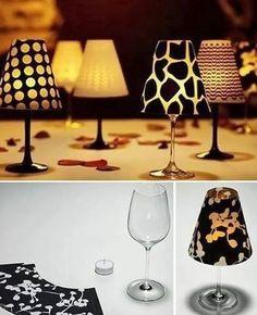 Mini lampade per la tavola fai da te