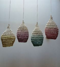 Timeless, the Cocoon is a macrame style lamp handmade by the designer Annie Legault. Its bohemian and sophisticated charm will bring you sweetness and comfort. Lampe Crochet, Crochet Lampshade, Diy Abat Jour, Rope Lamp, Deco Luminaire, Cocoon, Crochet Home, Basket Weaving, Diy And Crafts