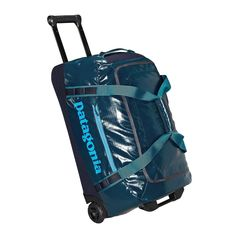 Our Black Hole Wheeled Duffel 45L is a burly carry-on duffel with precision handling—it's tough and highly weather-resistant. Check it out at Patagonia.com.