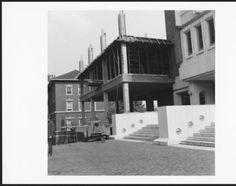 Construction of Ohio University's Alden Library's east wing, ca. 1971 :: Ohio University Archives.
