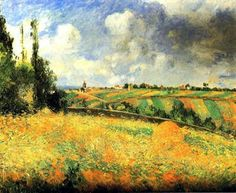 The Athenaeum - Fields (Camille Pissarro - ) 1877