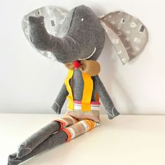 - Hi, I'm Ludovico the #softToy #elephant! I'm big, with very large ears and I love to travel!! Anyone wants to join me? by PinkNounou