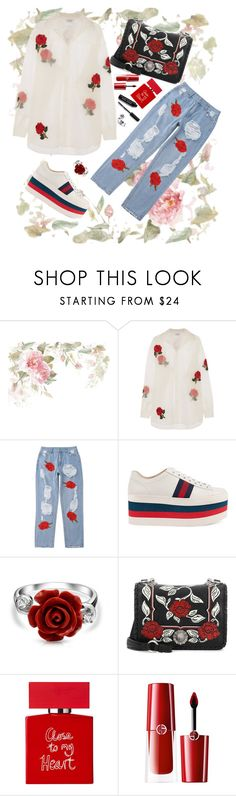 """May"" by miss-fairytale on Polyvore featuring Ashish, Gucci, Bling Jewelry, Miu Miu, Conran, Giorgio Armani and Bobbi Brown Cosmetics"