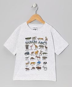 Take a look at this Ash Safari ABCs Tee - Toddler & Boys by Just for Kids on #zulily today!