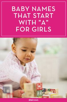 "Amazing baby names for girls that start with the letter ""A"""