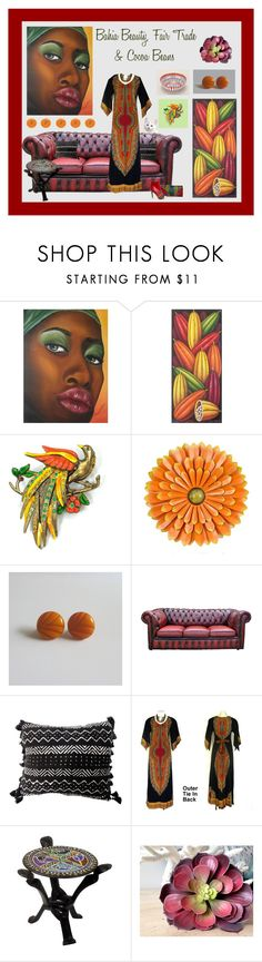 """""""Bahia Beauty, Fair Trade & Cocoa Beans"""" by anna-ragland ❤ liked on Polyvore featuring NOVICA and vintage"""