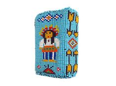 Vintage Handmade Native American Beaded Cigarette Case by CollectionSelection  (SOLD)