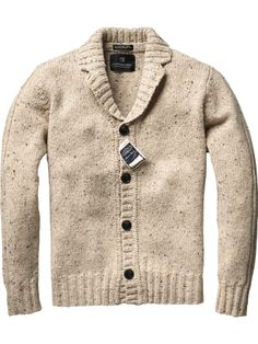Granddad knitted cardigan.