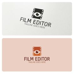 Logo highly suitable for film making and film editing businesses, multimedia production, photography, film director, video production and many other.