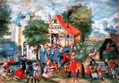 Jörg Breu the Elder : April, May, June (Museum Kunstpalast) 1475-1537 ヨーグ・ブロイ(父)