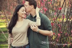 Love the way he is kissing her head! So sweet <3 Romantic engagement session, Sacramento, CA