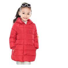 Inverno 2016 da marca meninas quente , com espessura de algodão acolchoado longo modelo jaqueta de inverno crianças algodão natal escola casaco quatro cores