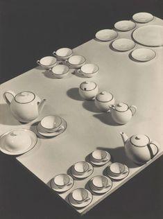 Josef Sudek (Czech, 1896-1976). Advertising photograph for Ladislav Sutnar porcelain set (with black rim), 1932.
