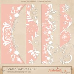 A new set of Border Buddies from #SnickerdoodleDesigns. CU/S4H, but perfect for the Personal Use scrapbooker too! #digitalscrapbooking