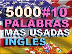 VOCABULARIO#10 - INGLÉS ESPAÑOL - CON PRONUNCIACIÓN - INGLÉS AMERICANO -... English Help, English Class, Confirmation, English Phrases, Most Common, Teaching Tips, Spanish, Learn English, English Course