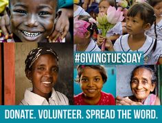 #givingtuesday Donate. Volunteer. Spread the Word.