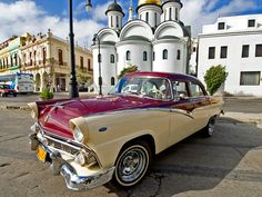 In addition to  the beautiful buildings in Cuba there is a classic auto show that never ends. They love big American cars none of which have been imported since the 1959 crisis with the US.  Many of these cars are in perfect condition, no easy feat when there are no parts imported.