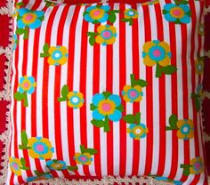 Pomme de Jour Vintage Fabric Cushion Cover  Little by Pommedejour, $24.00