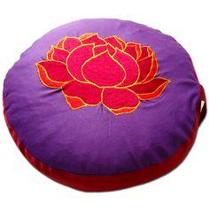 Meditationskissen + Yogakissen YogiStick® Lotus violett-red ø 33 cm