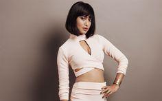 Lataa kuva Suhteessa Gupta, 4k, Intialainen näyttelijä, Bollywood, kaunis beige mekko, ruskeaverikkö, Intian kuuluisuuksia