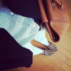 jillgg's good life (for less) | a style blog  Chambray, Black, Cheetah