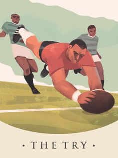 Vintage rugby, The Try, Martin Wickstrom Rugby Memes, Rugby Poster, Basketball Equipment, Smocking Patterns, Sports Activities, Extreme Sports, Architecture Art, Vintage Posters, Little Ones