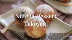These mini, bite-sized Nutella dessert takoyaki filled with Nutella are deliciou. These mini, bite-sized Nutella dessert takoyaki filled with Nutella are delicious and cute! They& a sweet twist on the classic Japanese dish, Takoyaki! Sweet Recipes, Snack Recipes, Dessert Recipes, Cooking Recipes, Sushi Recipes, Asian Recipes, Snacks, Desserts Japonais, Manger Healthy
