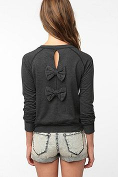 cute sweatshirt bows