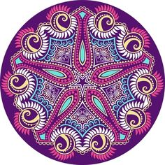 Set In A Metallic Color Mandalas Stock Vector Illustratie: 106288943 : Shutterstock Mandala Art, Mandala Painting, Mandala Pattern, Art Floral, Coloring Books, Coloring Pages, Motif Oriental, Mehndi, Circle Art