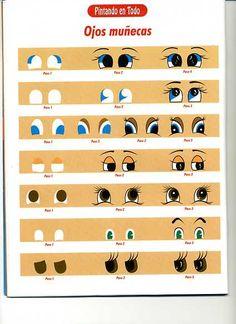 Disegni e modelli da stampare: Come dipingere gli occhi su di bambole ...