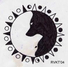 Ying-Yang tattoo thing by Vargablod on DeviantArt - there are two wolves in you . - Ying-Yang tattoo thing by Vargablod on DeviantArt – there are two wolves in you … which one wil - Tattoo Design Drawings, Cool Art Drawings, Pencil Art Drawings, Art Drawings Sketches, Easy Drawings, Tattoo Designs, Tatuajes Yin Yang, Yin Yang Tattoos, Tattoo Wolf