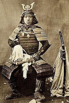 Samurai in armor, Baron Raimund von Stillfried, 1870-1875.