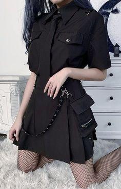 Egirl Fashion, Kpop Fashion Outfits, Edgy Outfits, Korean Outfits, Mode Outfits, Kawaii Fashion, Cute Casual Outfits, Cute Fashion, Pretty Outfits