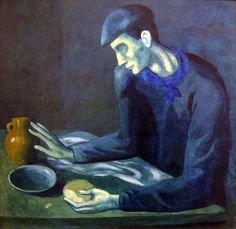 Picasso's Blind Man's Meal...typical Blue Period Picasso