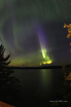 Northern Lights or Aurora Borealis. #onlyinmn