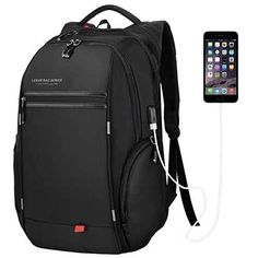 LUXUR Business Laptop Backpack Travel Anti Theft Laptops Backpack USB Charging Port College Back to School Bookbags for Men&Women Fits Daypack Black Price Leather Backpack For Men, Black Backpack, Travel Backpack, Business Laptop, Business Travel, Laptop Screen Repair, Waterproof Laptop Backpack, Laptop Storage, Laptops For Sale