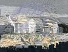 Giclee Textile Art Print  'Craster Houses' by LauraEdgarTextiles, £60.00