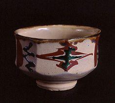 浜田庄司 琉球窯赤繪茶碗