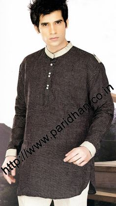 Royal look linen small cheks kurta for mens. We are using pure linen fabric for this tunic style linen shirts. It is the best fabric which you can use in summer or for beach wedding.